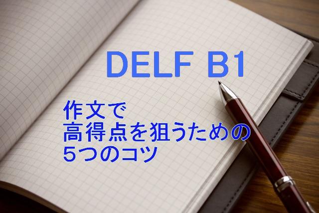 DELF B1 作文で高得点を狙うための5つのコツ